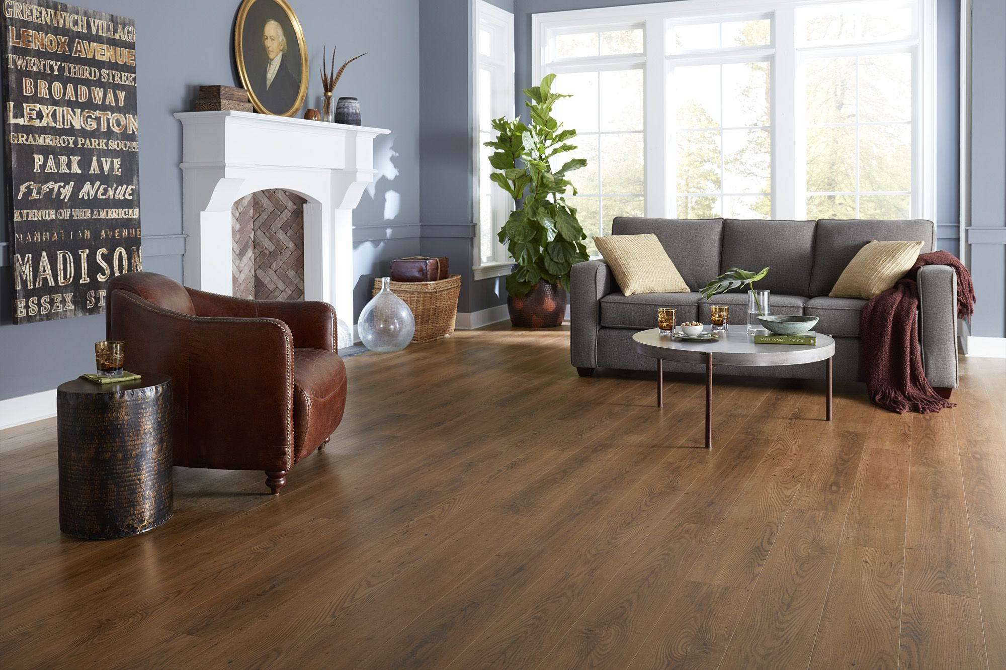 Coreluxe Ultra Walnut Hickory Evp Waterproof And Worry Proof Engineered Vinyl Plank Vinyl Plank Hickory Flooring