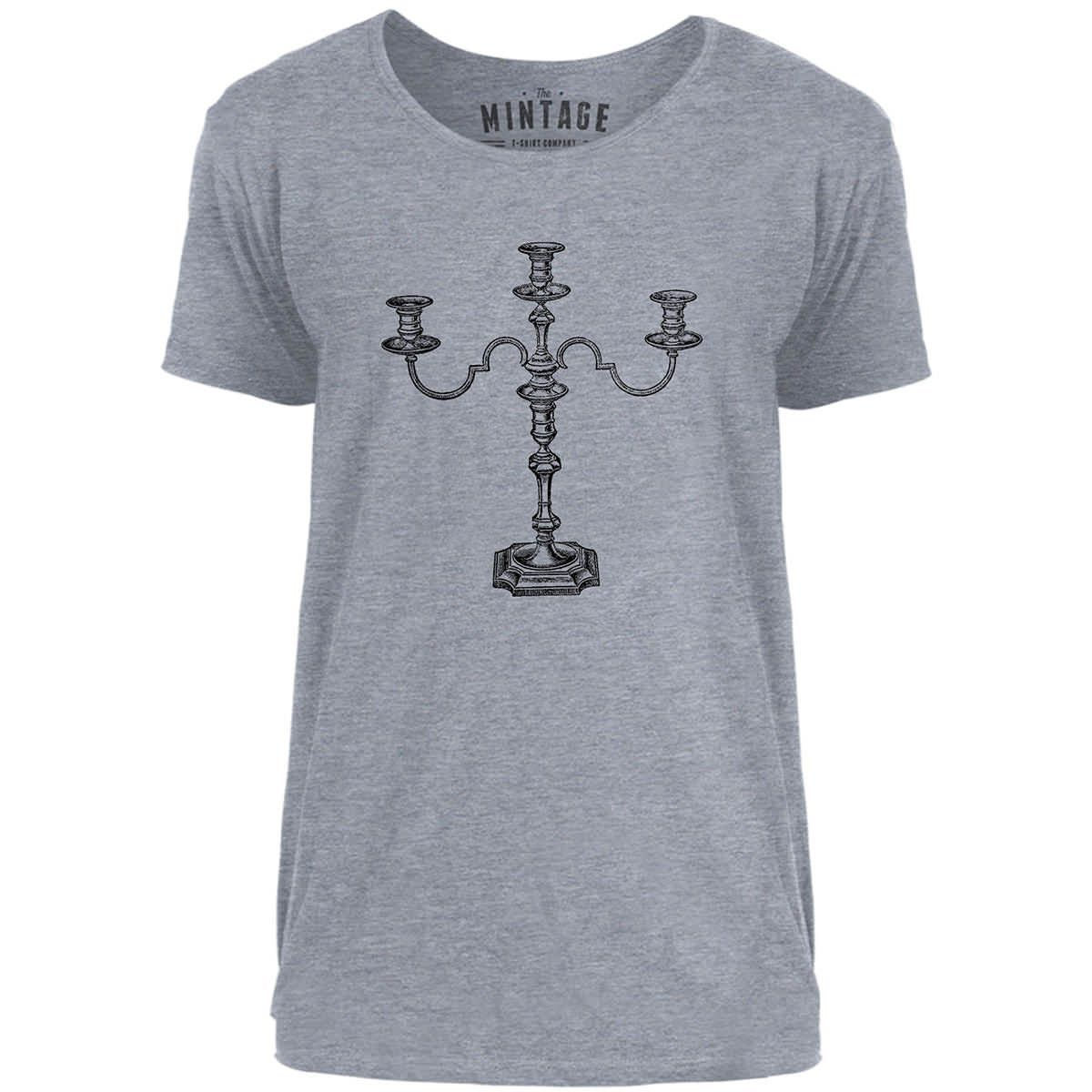 Mintage Iron Candle Holder Mens Scoop Neck T-Shirt