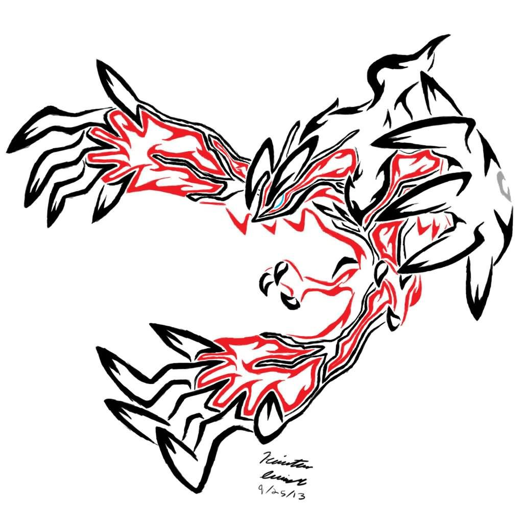 Red And Black Tribal Legendary Pokemon Tattoo Stencil Tattoo Design Pokemon Totoo Design Pokemon Go Pokemon On Pokemon Tattoo Tribal Pokemon Tribal Tattoos