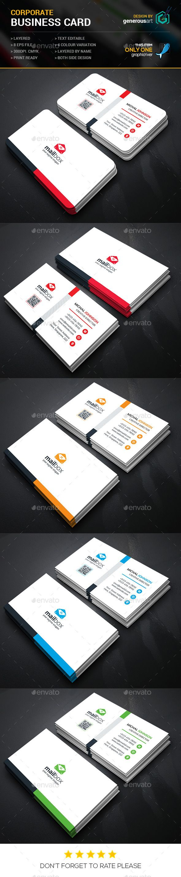 Mail Box Corporate Business Cards - Corporate Business Card Template Vector EPS. Download here: http://graphicriver.net/item/mail-box-corporate-business-cards/11895822?s_rank=1776&ref=yinkira