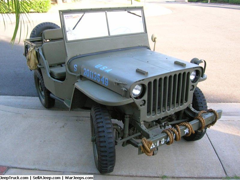 Wwii 1942 Ford Gpw Jeep 3 Jipe Auto 4x4