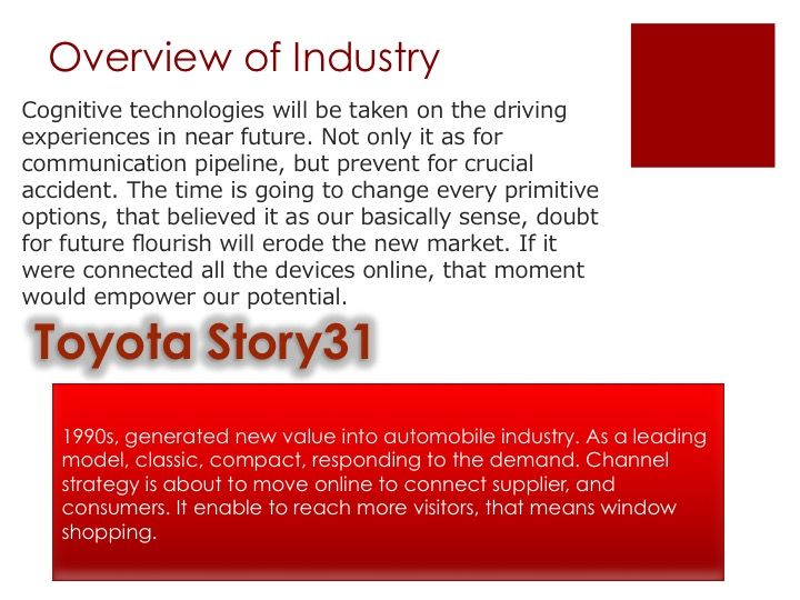 1990s, generated new value into automobile industry. As a leading model, classic, compact, responding to the demand. Channel strategy is about to move online to connect supplier, and consumers. It enable to reach more visitors, that means window shopping.   #socialmedia #business #branding #marketing