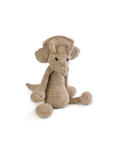 Dinosaur Crochet Pattern Triceratops From Edwards Menagerie By