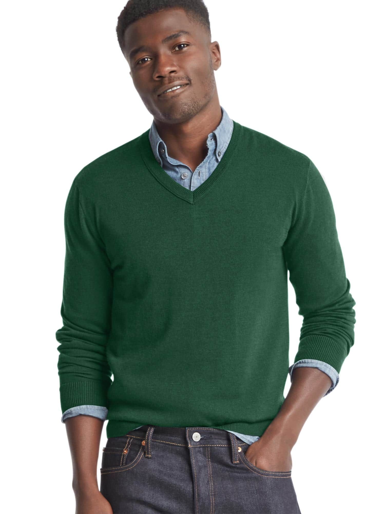 Have this in navy, green, gray Vneck sweater, Men