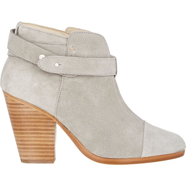Rag & Bone Women's Harrow Ankle Boots (1.785 BRL) ❤ liked on Polyvore featuring shoes, boots, ankle booties, zapatos, grey, grey leather booties, chunky heel ankle boots, high heel ankle boots, gray leather boots and ankle boots