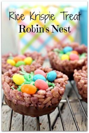Rice Krispie Treat Robins Nest by katheryn