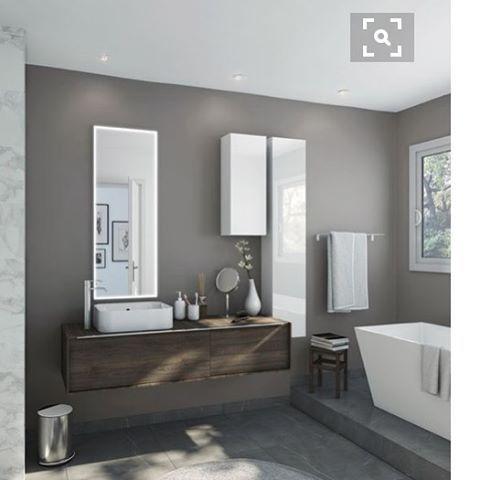 Les meubles de salle de bain neo frame de chez Leroy merlin suspendu - schmidt salle de bain