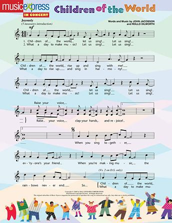 Join All The Children Of The World As We Rise Up And Sing Together