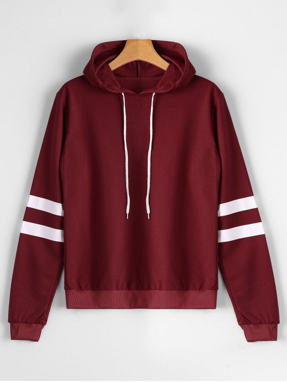 2d205905d56c8 Casual Stripes Panel Hoodie. zaful