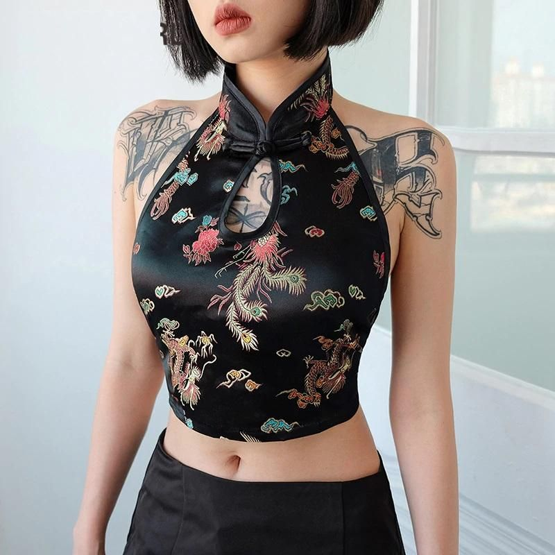 JAPANESE STYLE BLACK SEXY CROP TOP