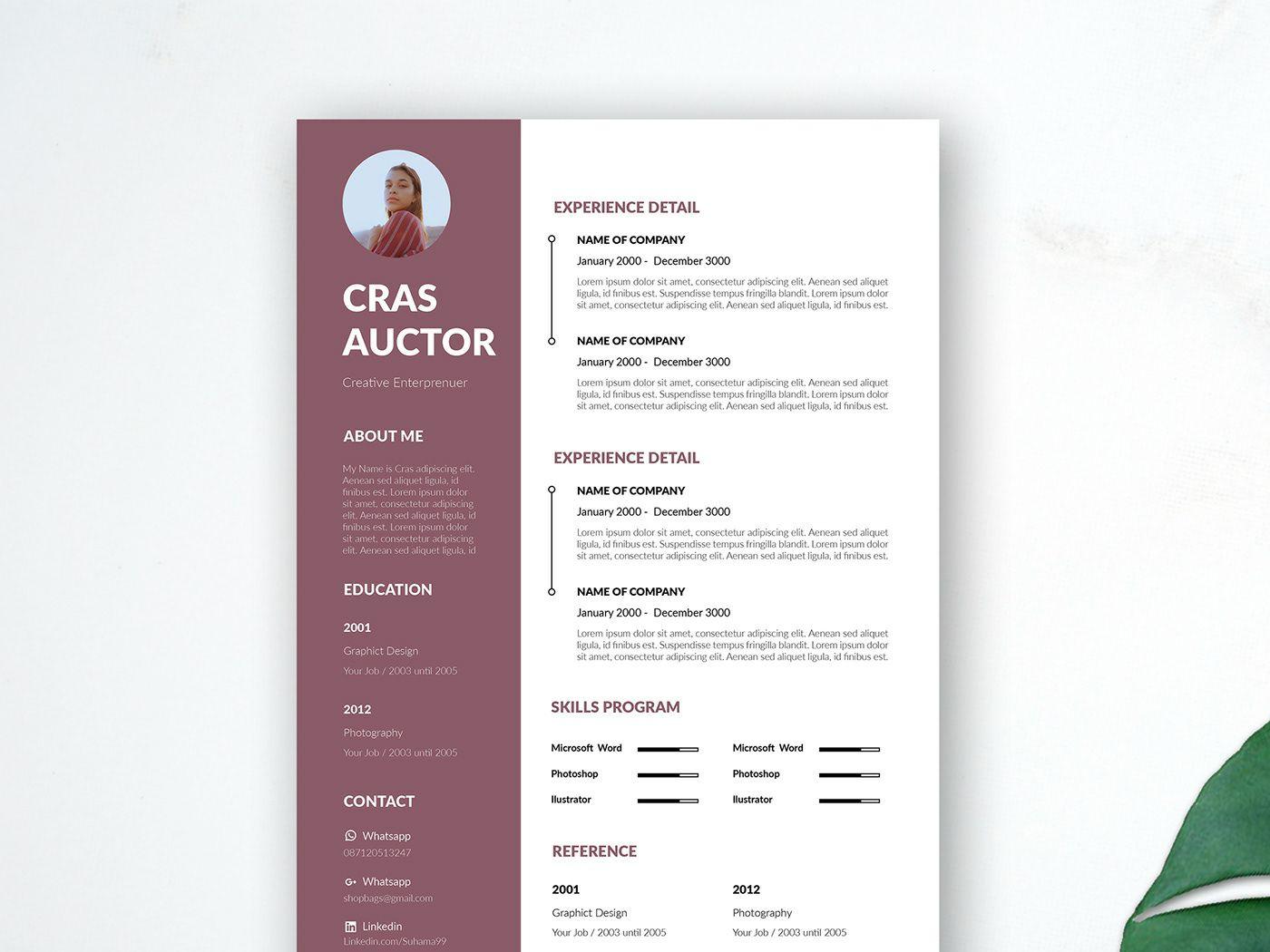 Free Editable Resume Template Resume design template