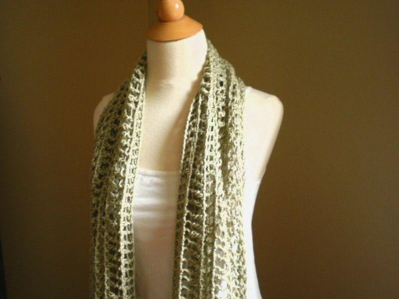 Itano Summer Scarf Crochet Pattern | Crochet | Pinterest | Tejido