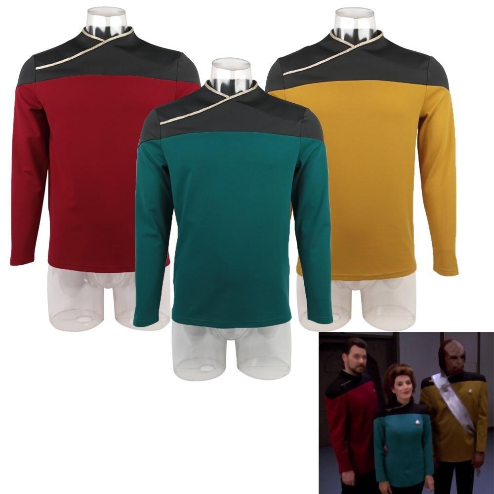 Star Trek Jacket The Next Generation Captain Picard Red Duty Costume TNG Jacket