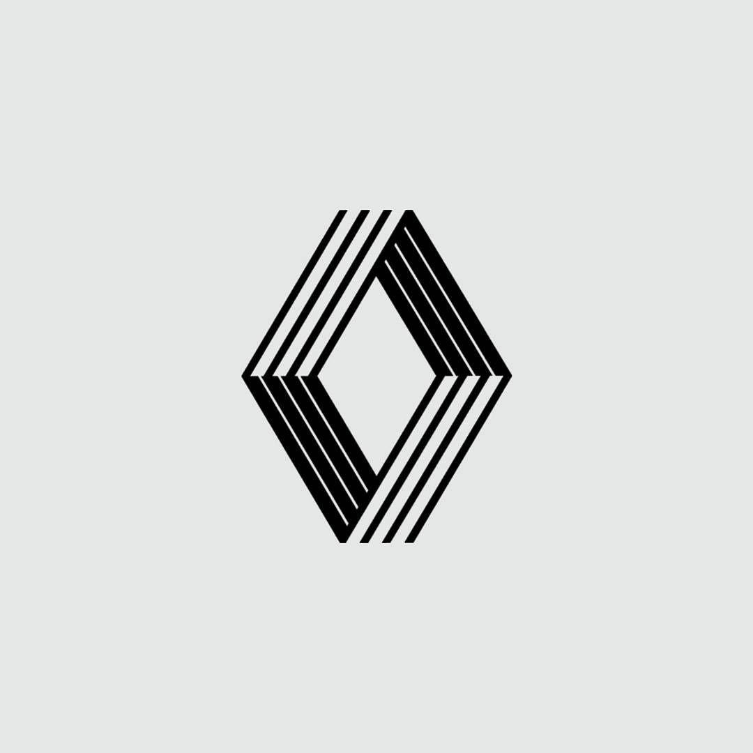 renault logo par victor vasarely 1972 logo iconic