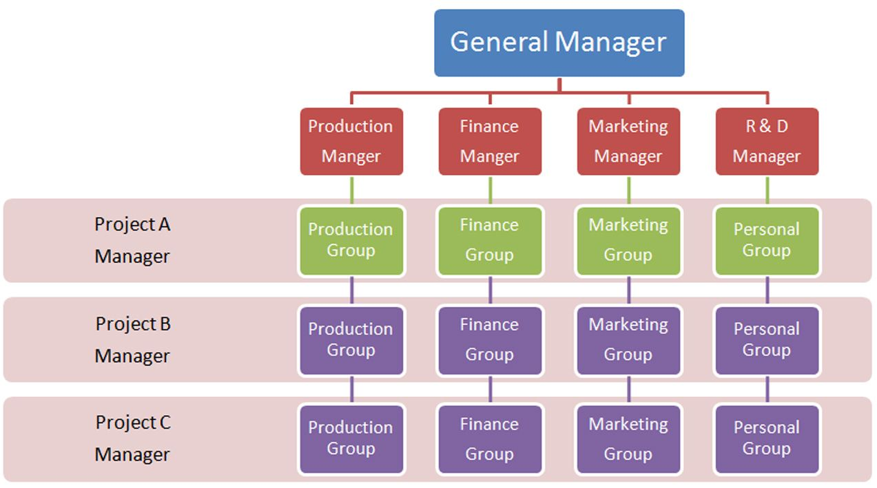 A Matrix Organizational Structure Is A Company Structure In Which
