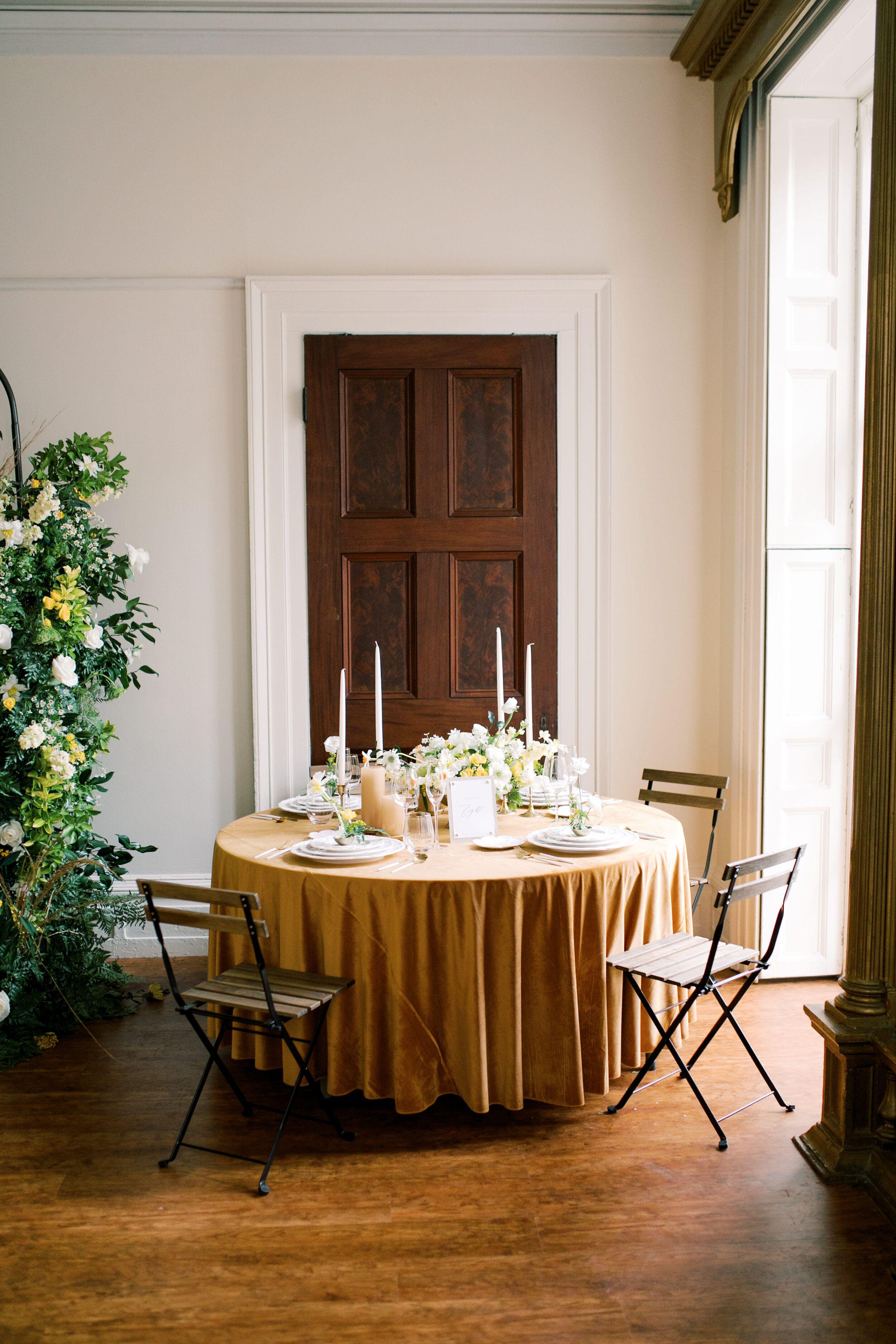 Romantic Mansion Wedding Inspiration in Tones of Yellow
