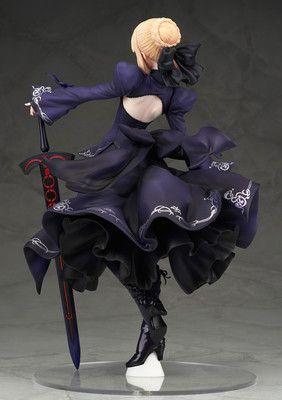 PVC Figure New No Box Anime Fate//stay Night Grand Order Saber Black Robe Ver