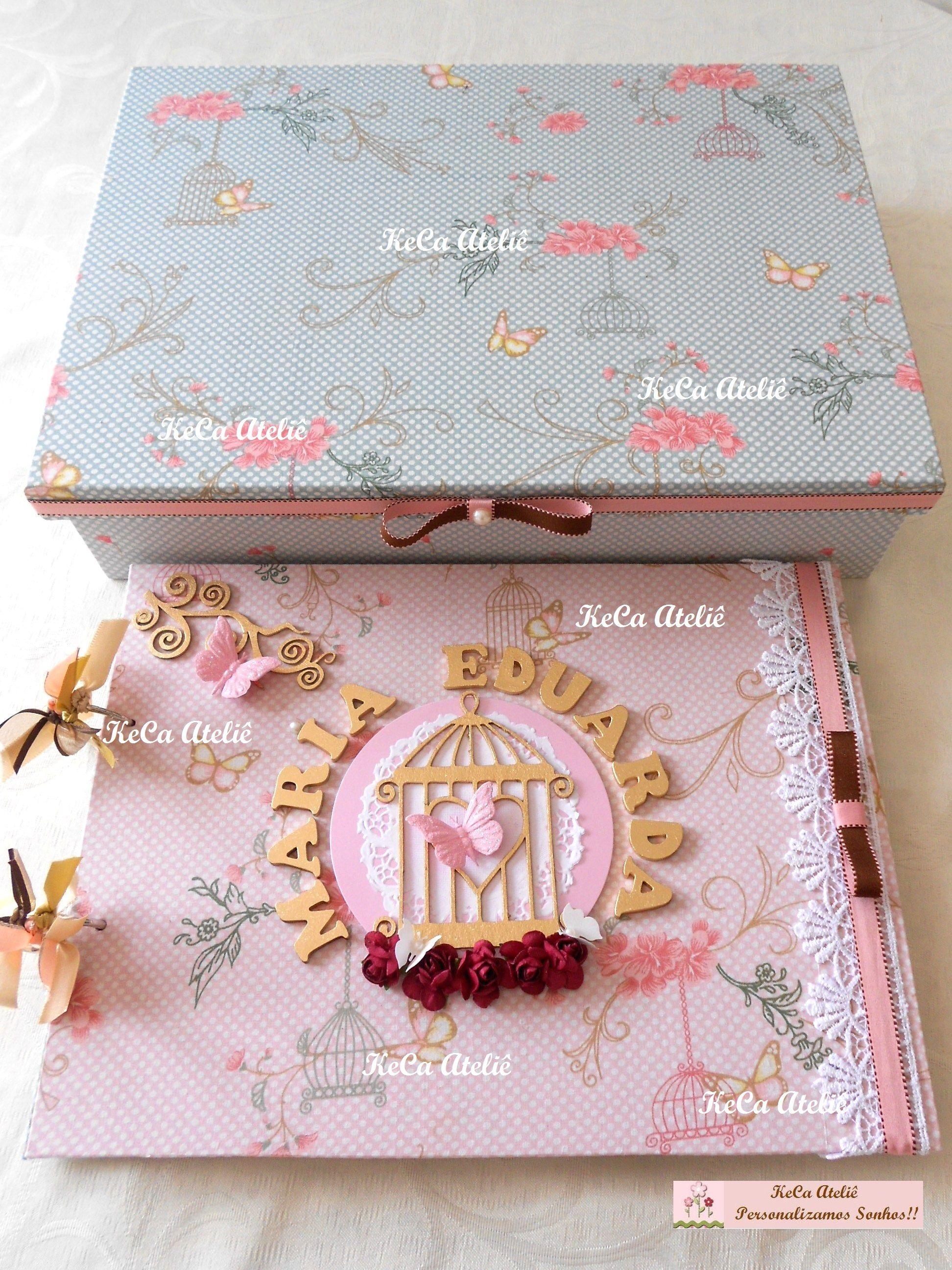 livro de assinaturas - tema Borboletas e flores Tecido by Vanessa Guimarães kecaatelie@gmail.com