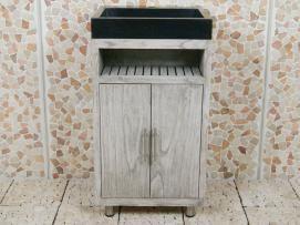 Badezimmermöbel Raung Cabinet Mindyholz Terrazzo