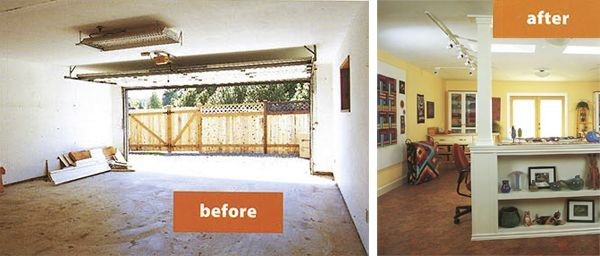 Turning A Garage Into Living Space Makeover 7 Converting A Garage ...