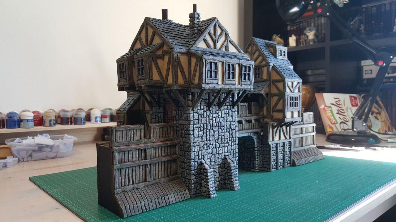 Medieval Town Entrance - 28mm Buildings - Tabletop - Terrain