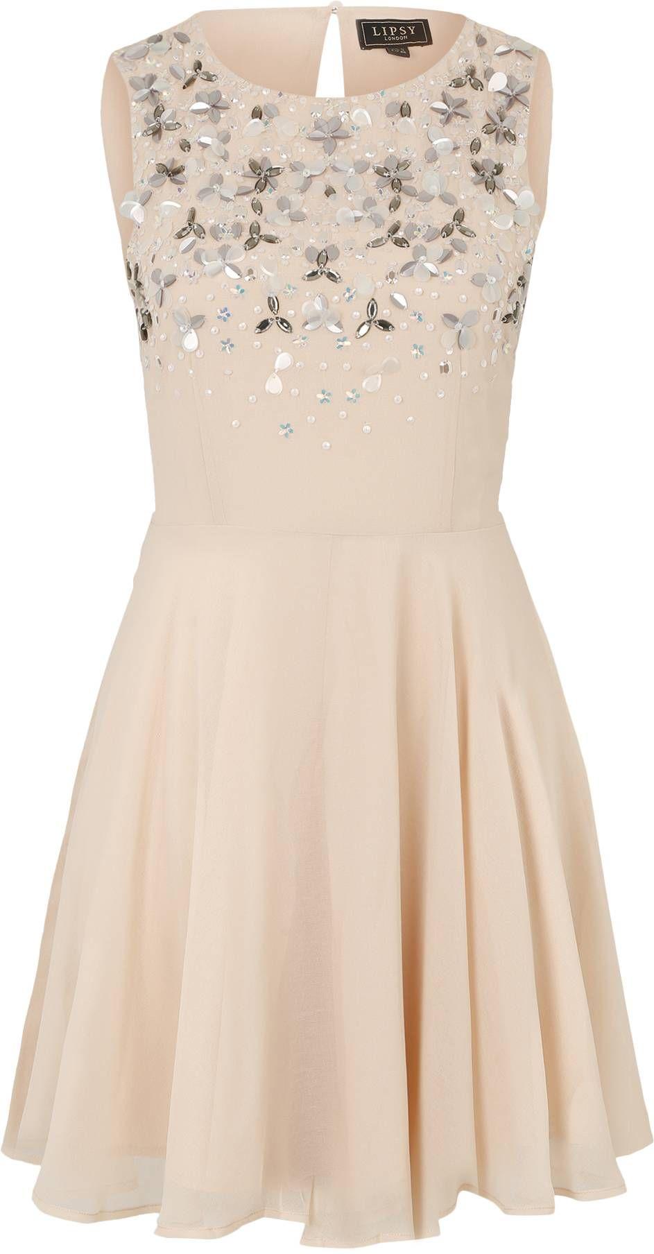 Ausgestelltes Kleid mit Applikationen von Lipsy. Schnelle ...