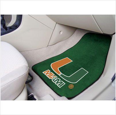 UNIVERSITY OF MIAMI ..  2 Piece Front Car Mats 846104054569 on eBid United States
