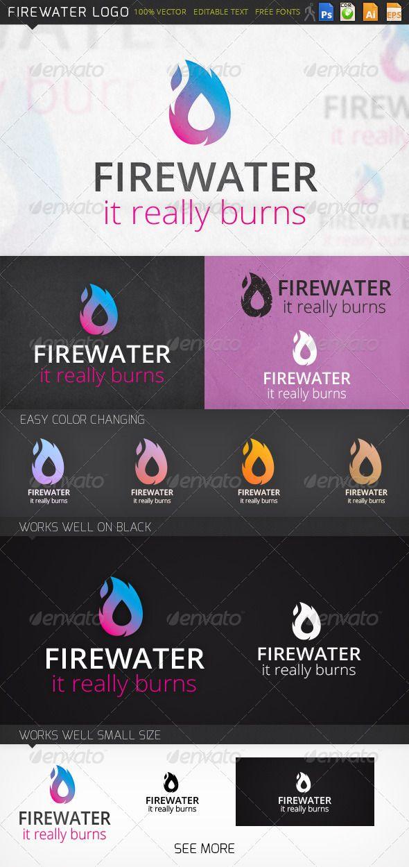 Fire Water Logo #GraphicRiver Fully editable logo: PSD, CDR, Ai 10