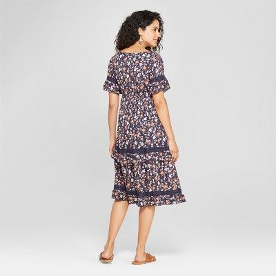 929dc1509988e Maternity Floral Print Woven Ruffle Tiered Dress - Isabel Maternity by  Ingrid