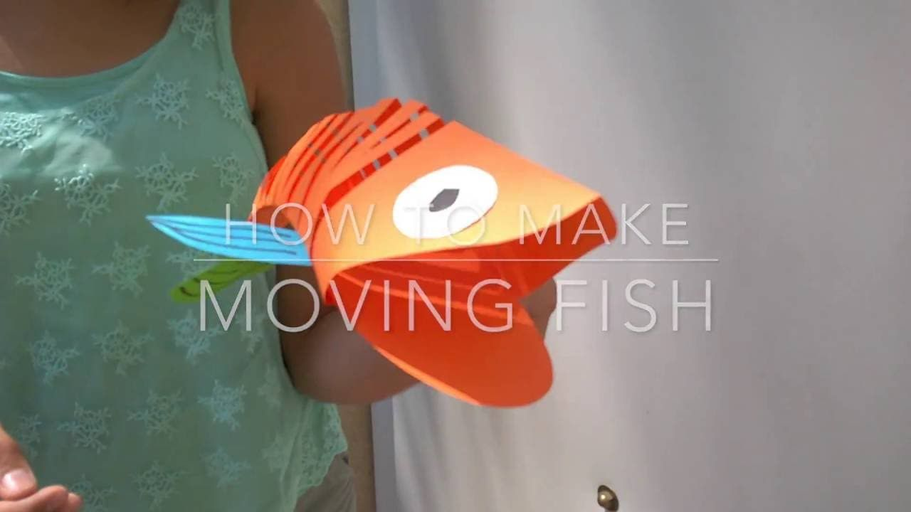 How to make a moving fish. This is cool and I think simpler than it ...