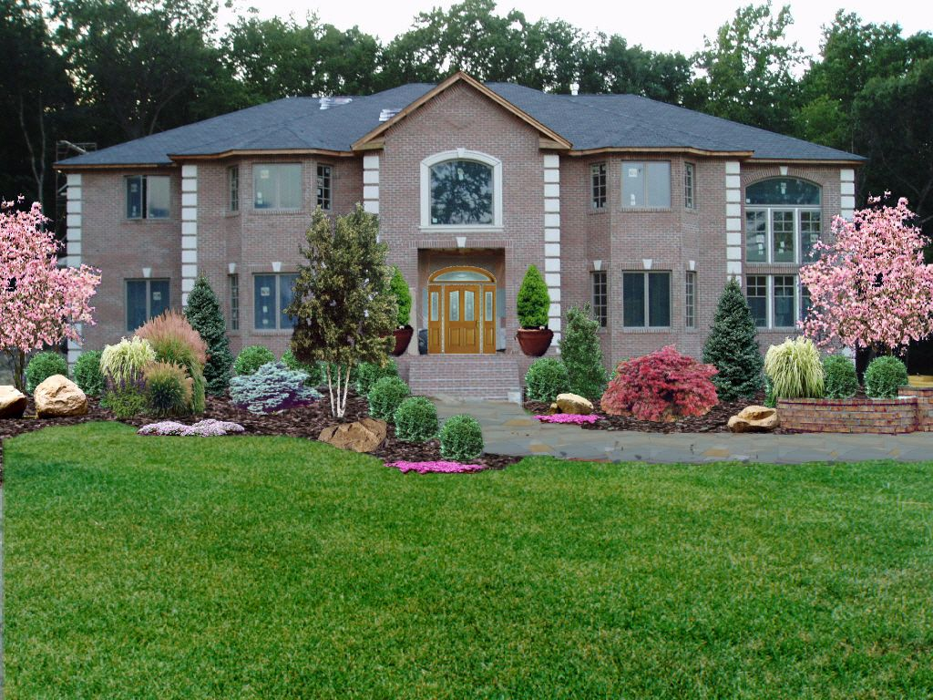 Low maintenance front yard landscaping new jersey for Low maintenance lawn design