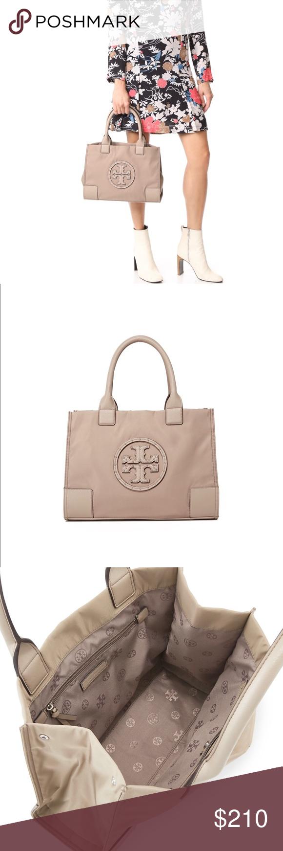 d675ae16963 NWT Tory Burch Ella Studded Mini Tote, French Gray Tory Burch nylon tote bag  with