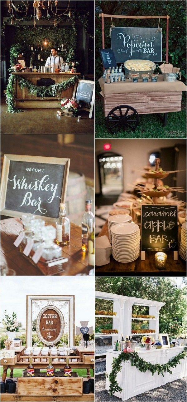 Trending 15 Wedding Reception Bar Ideas For 2018 Weddingideas