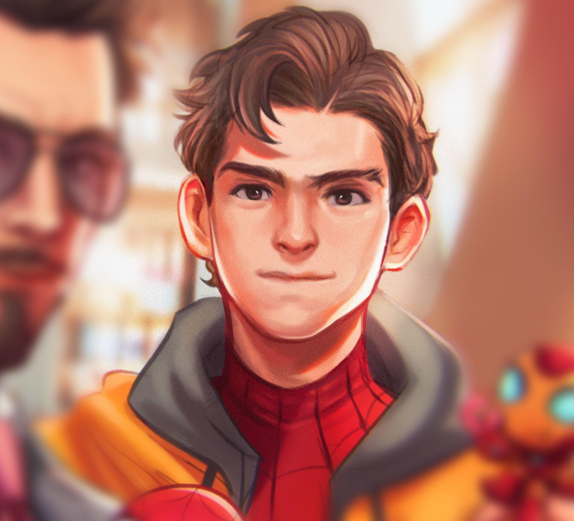 Tony Stark w/ Peter Parker , Veedles ✨ #peterparker