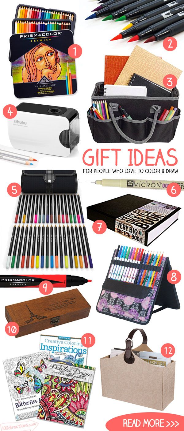 Gift Ideas For People Who Love To Draw And Color Gifts For