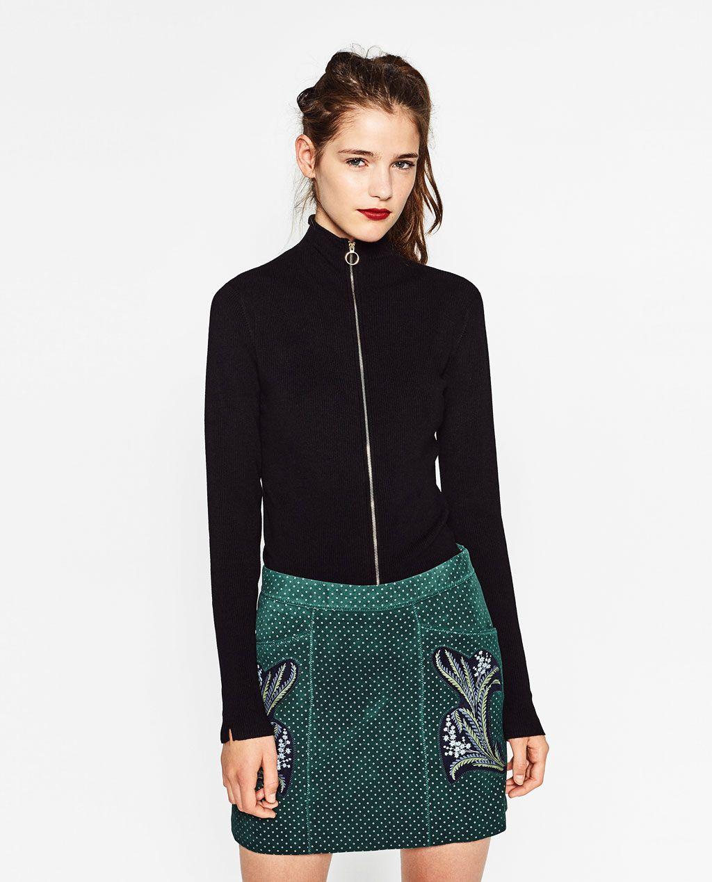 2e5cd288 RIBBED CARDIGAN from Zara Zara Women, My Wardrobe, Sequin Skirt, Knitwear,  Jacket