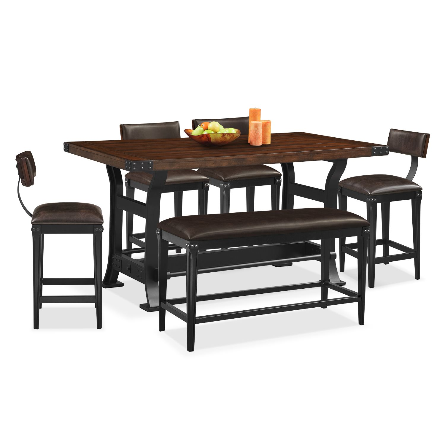Dining Room Furniture Newcastle 6 Pc Counter Height Dining Room