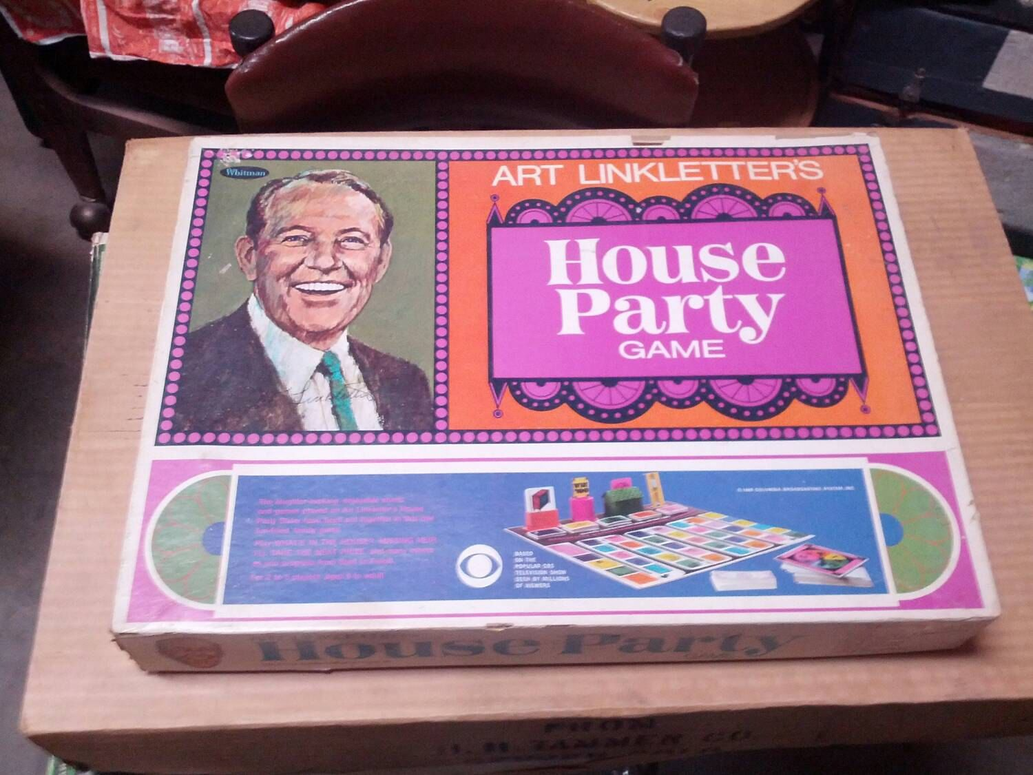 ART LINKLETTER HOUSE PARTY BOARD GAME (1968) By