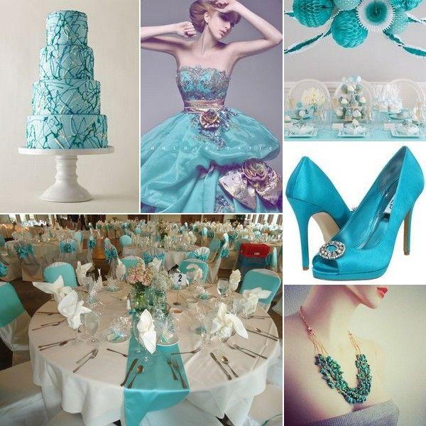 Turquoise White Silver Wedding Inspiration
