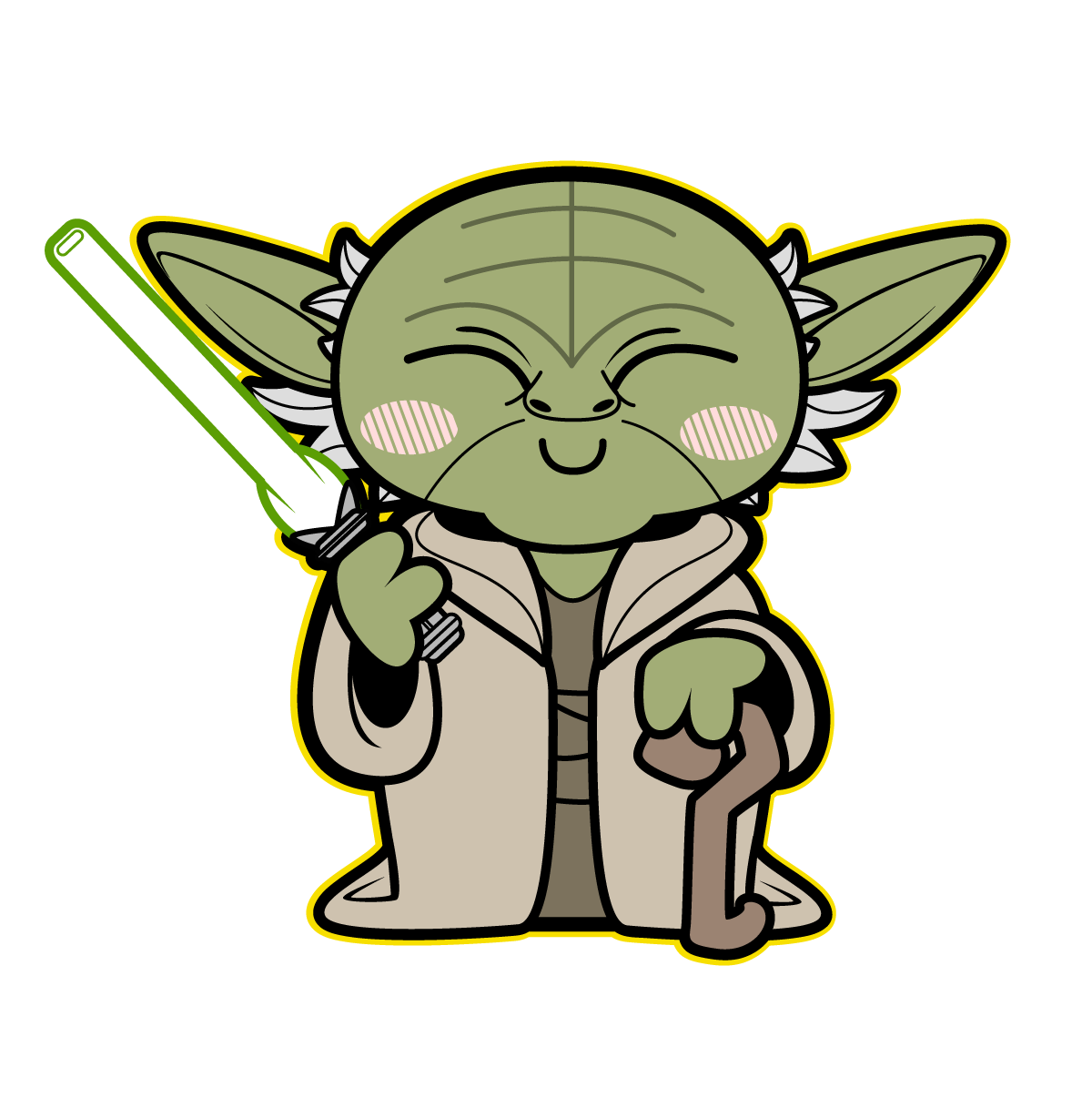 Cute Baby Yoda Drawing Kawaii