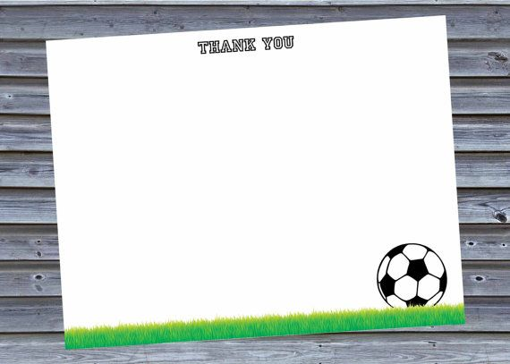 Soccer Thank You Cards Instant Download Stationery Note Etsy Thank You Card Template Card Template Thank You Cards
