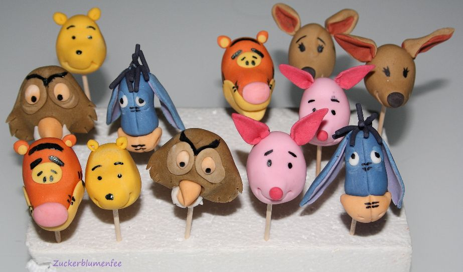 Cupcake Deko aus Fondant, Winnie pooh | Figuren aus Fondant ...