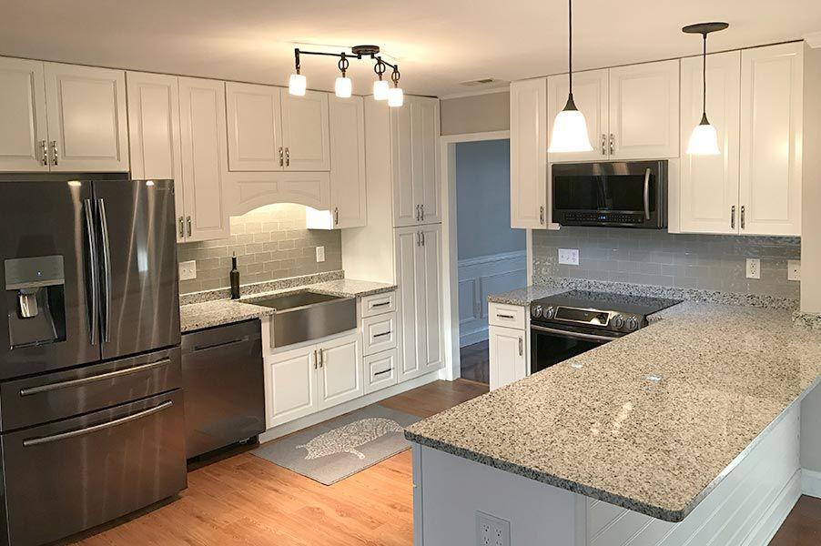 Impressive Gramercy White Kitchen Cabinets Total Cost 4 885