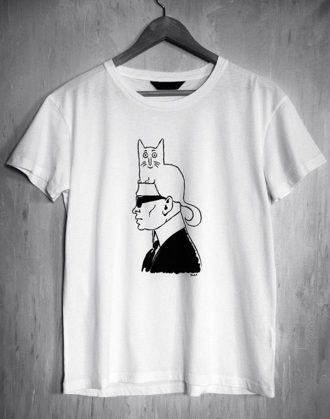 9e3edd86 KARL & CHOUPETTE (Design You Trust)   Karl's Cat Muse   Shirts ...