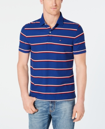 af1bdf7e Tommy Hilfiger Men Marcus Striped Polo in 2019 | Products | Tommy ...