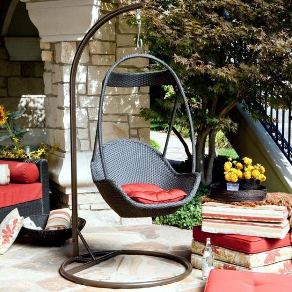 Sillas colgantes Swings, Swing chairs and Iron furniture