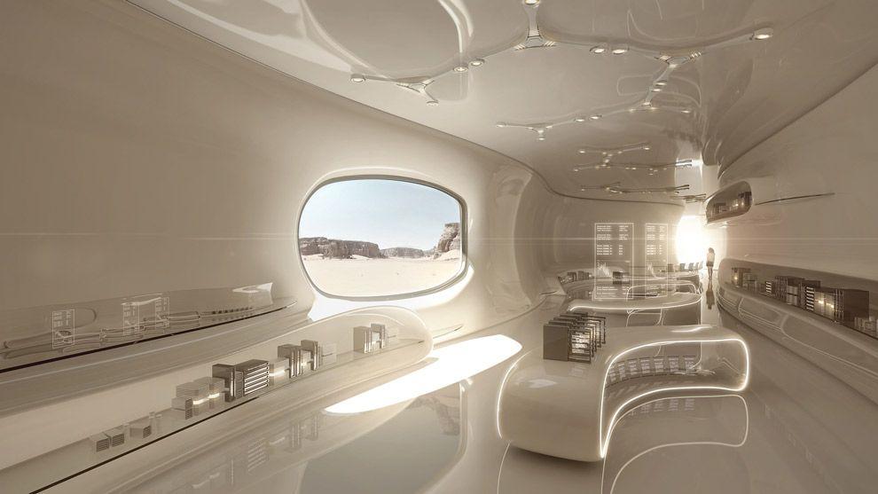 Futuristic Home Minimal Design Future White Room Interior