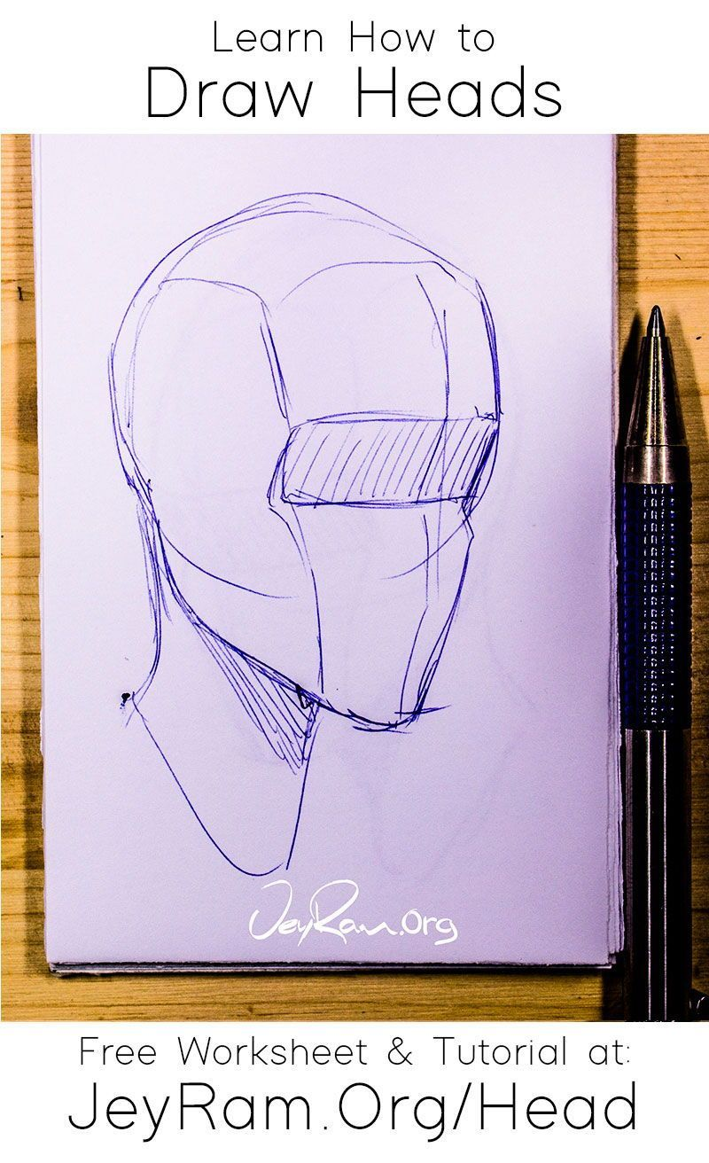 How To Draw The Head From Any Angle Free Worksheet Video Tutorial In 2020 Drawings Drawing The Human Head Learn To Draw