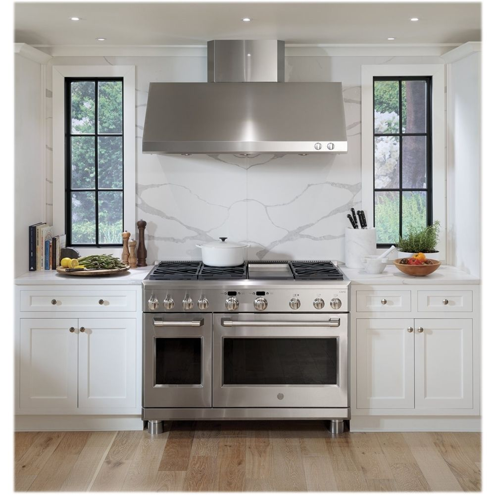 Cafe 48 Externally Vented Range Hood Stainless Steel Cv48sslss Best Buy Kitchen Vent Hood Kitchen Design Kitchen Hood Design