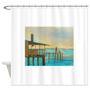 Beer Bait Ice Shower Curtain By Patty Weeks Old Florida Items